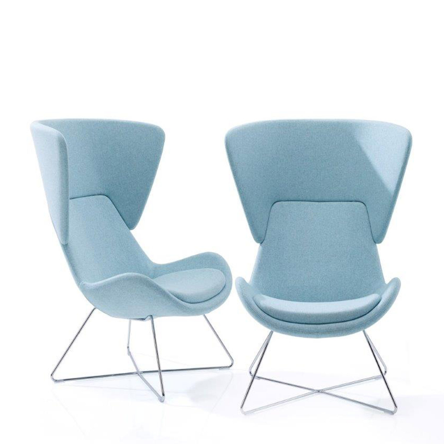 Avi Higgh Wing Back Chairs