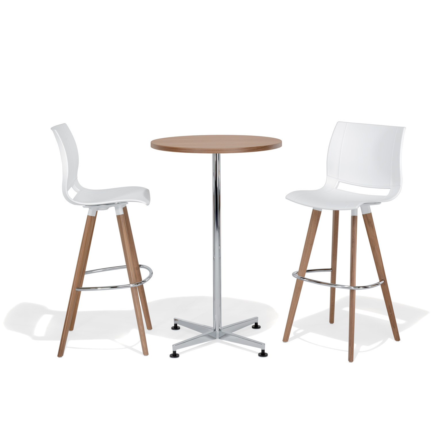 2080 Uni_Verso Barstools with wooden legs