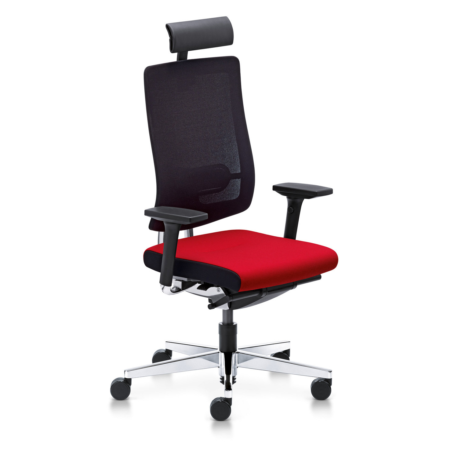 Black Dot Net Executive Swivel Chair with headrest