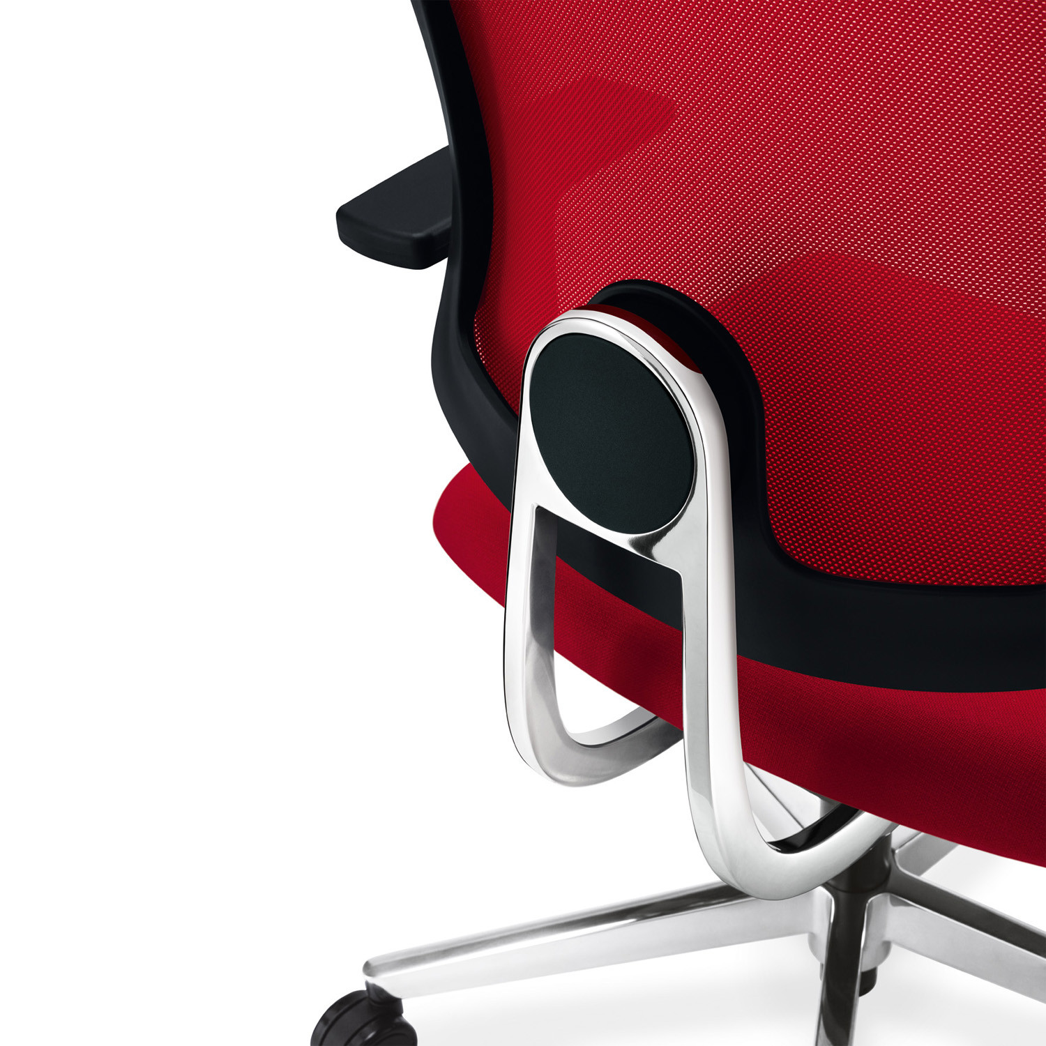 Black Dot Net Executive Chair lumbar support detail