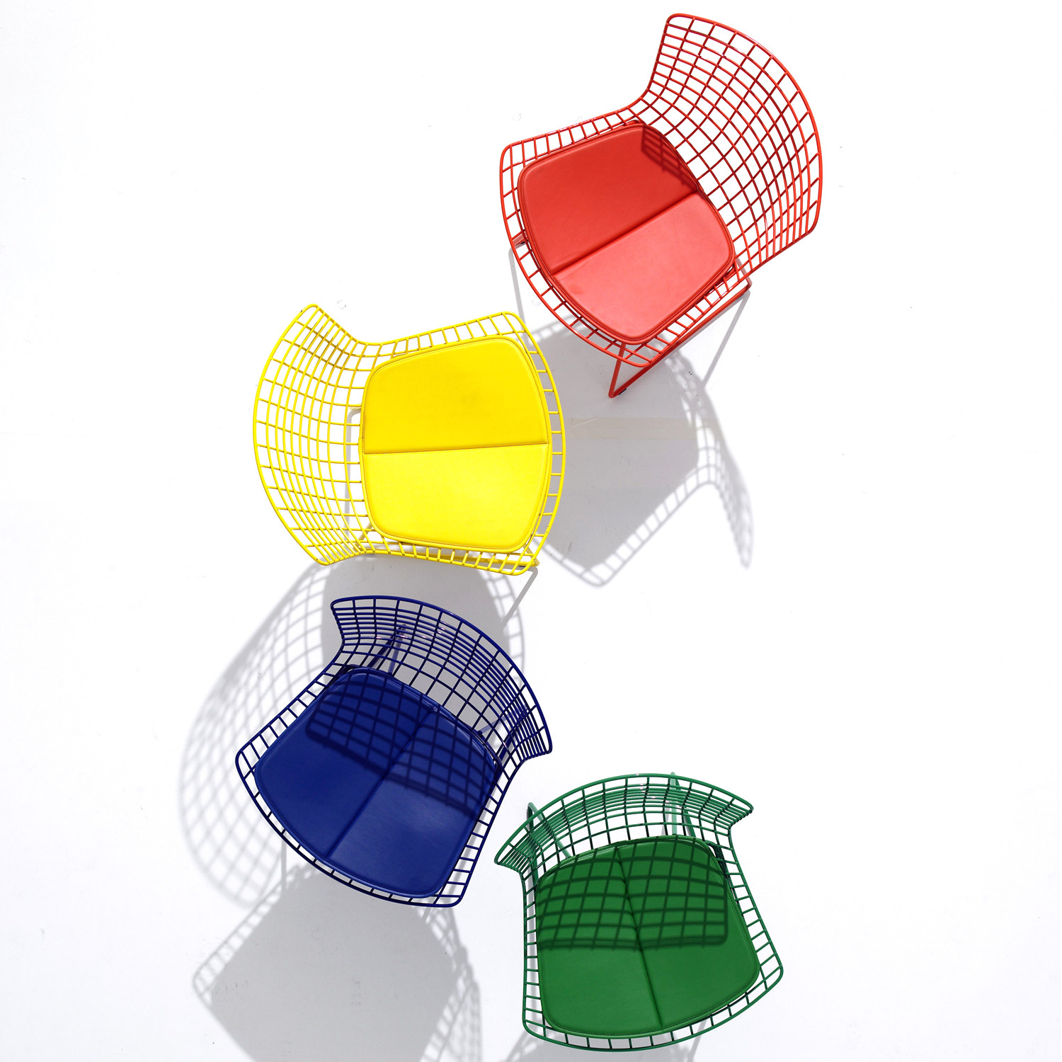 Bertoia Side Chairs Colourful