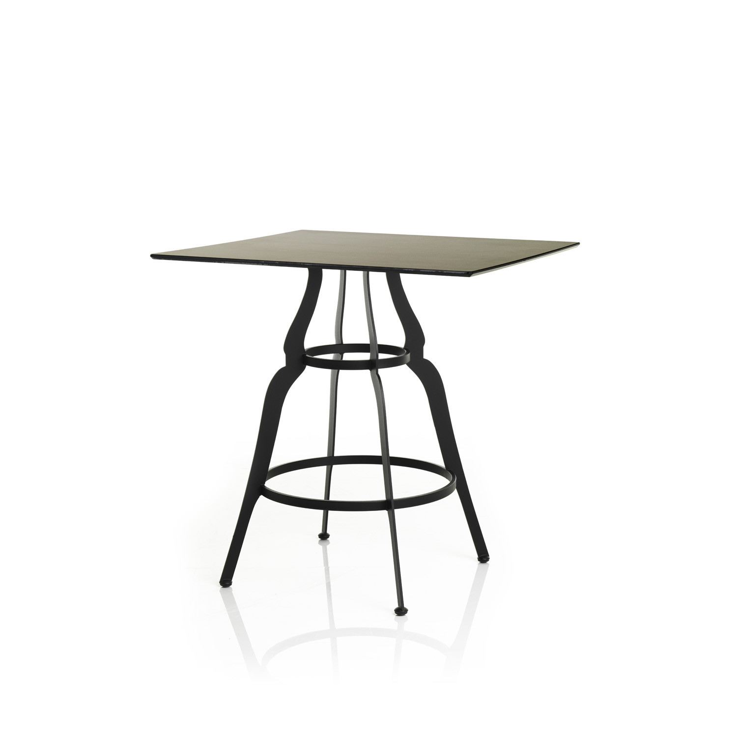 Bistro Square Top Table in Black