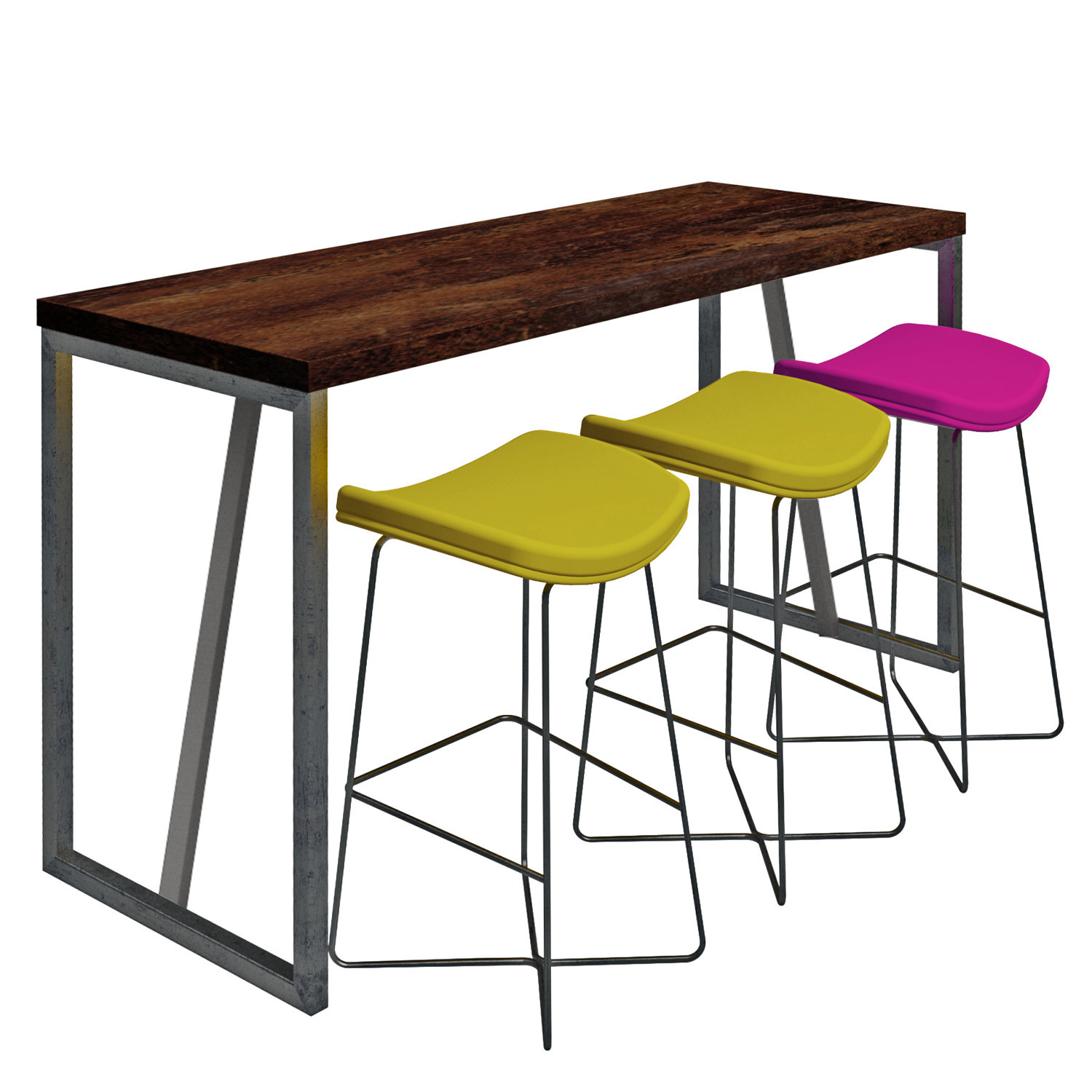 Black Raw Poseur Table