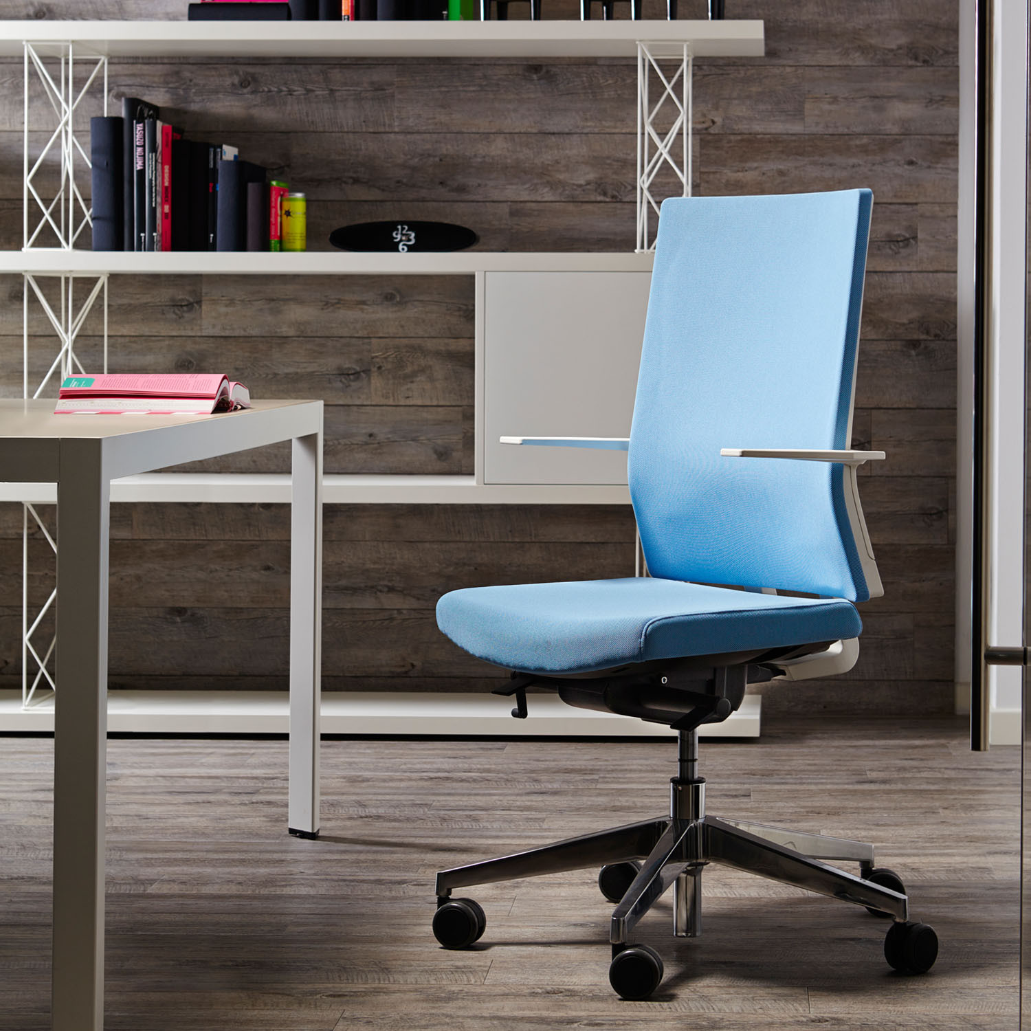 Blue Task Chairs from Sinetica