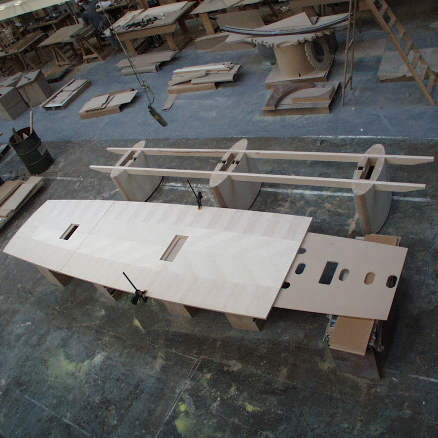 Bespoke Conference Table in production