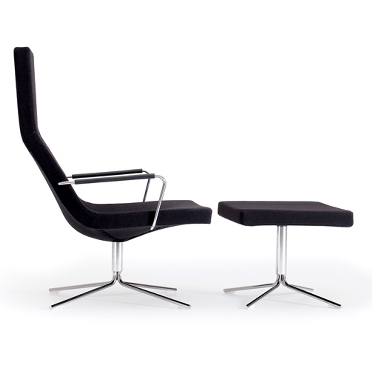 Bond High Back Easy Chair and Footstool by Offecct Furniture