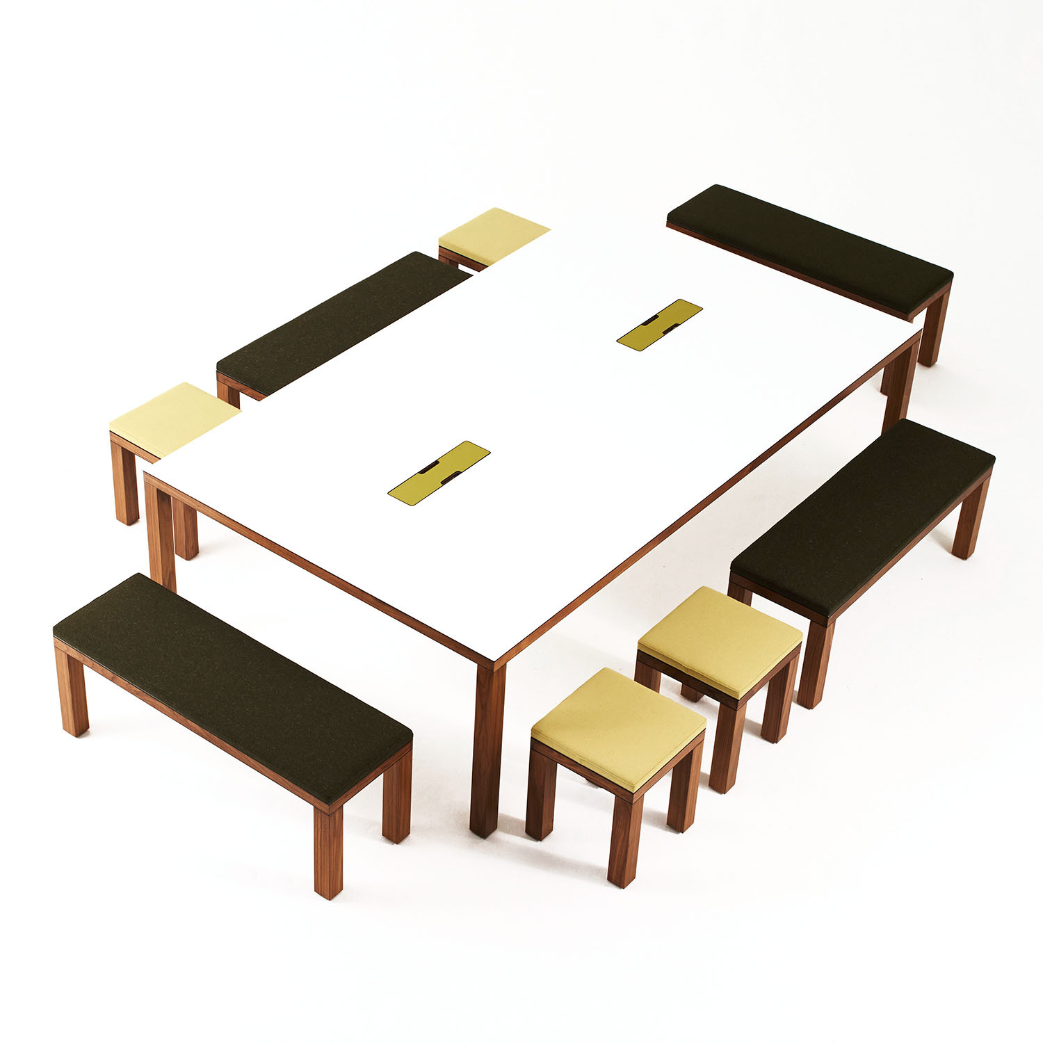 Bosa Meeting Table, Stools and Benches