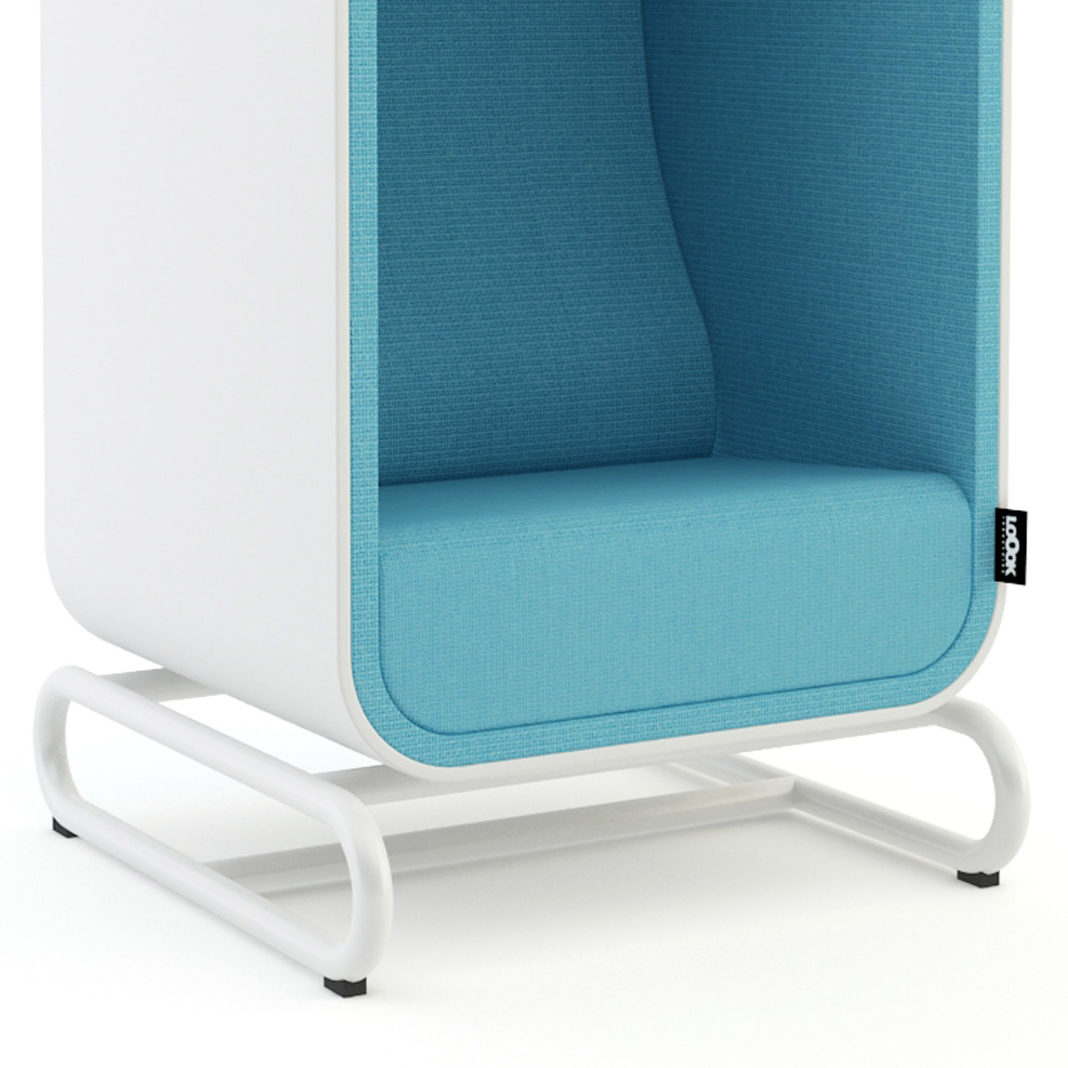 The Box Lounger Chair with Skid Base