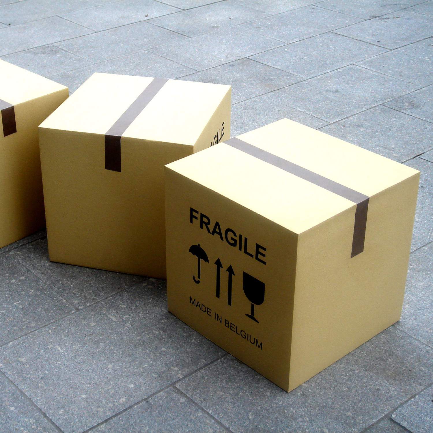 Fragile Box Contemporary Stools