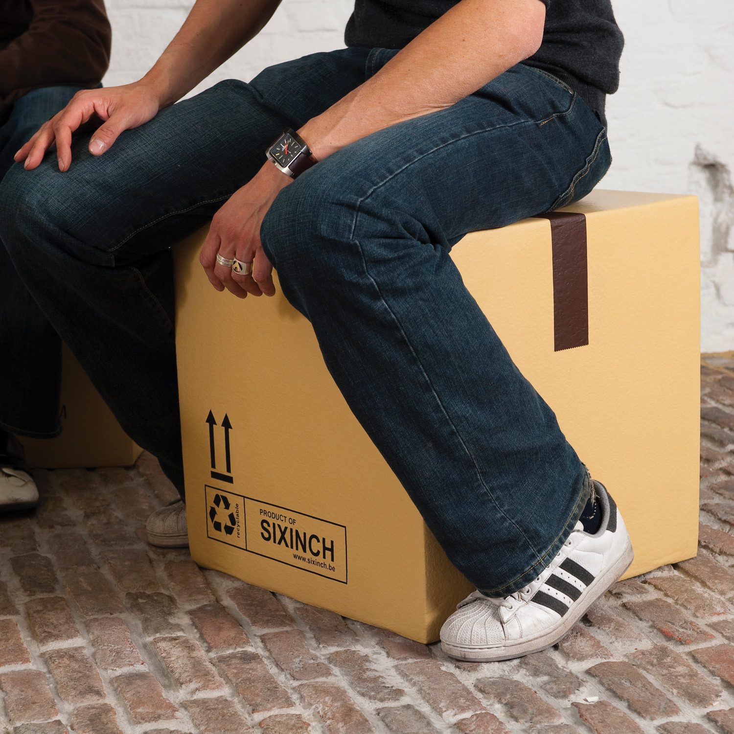 Pieter Jamart Box Stools Marked Fragile