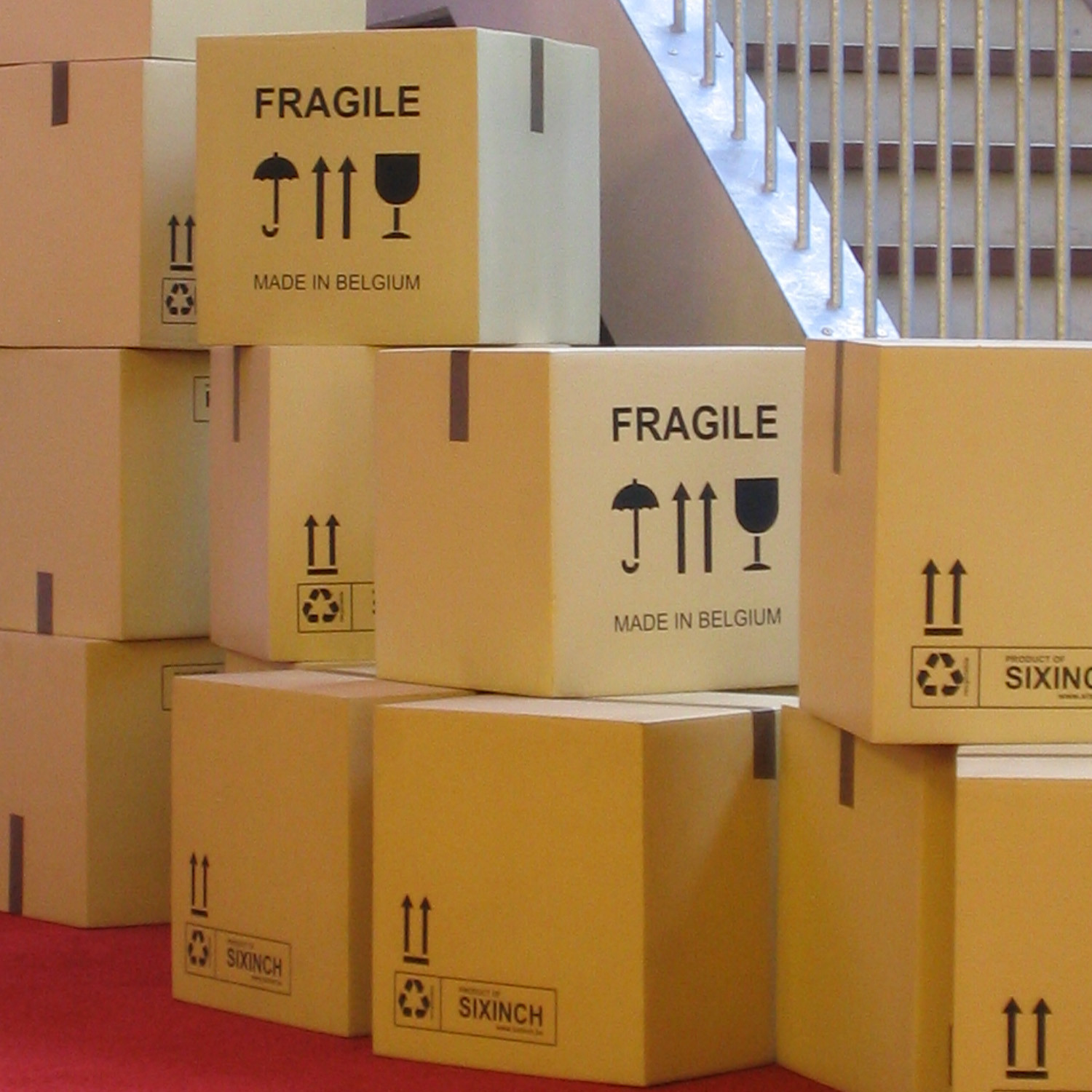 SixInch Fragile Box Stools