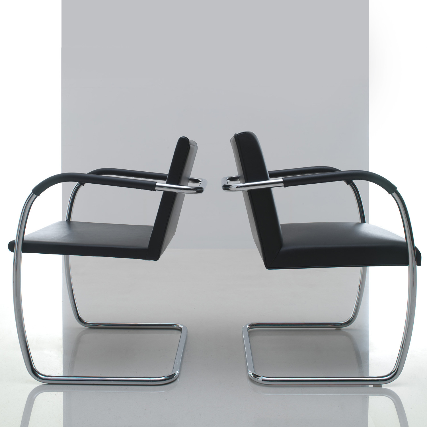 Tubular Brno Cantilever Chairs by Knoll