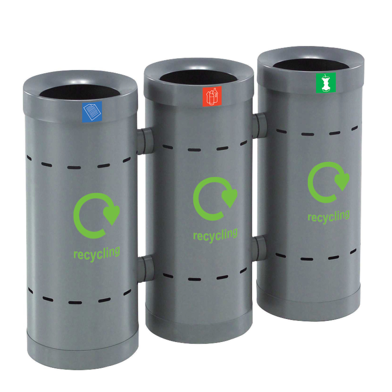 Linkable Recycling Bins by Lesco