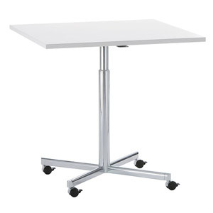 Torino Square Height Adjustable Cafe Table on Castors