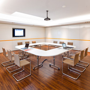 Torino Flip Tables can be linked for conference rooms