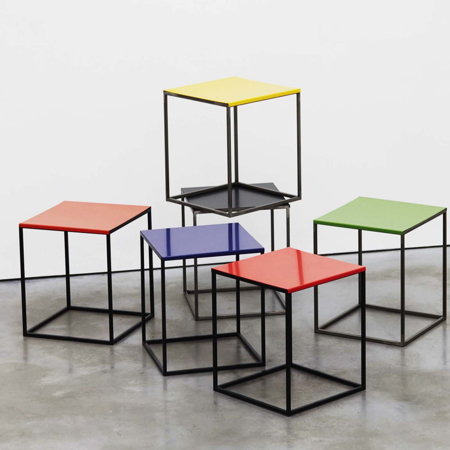 Cage Shelving Stools