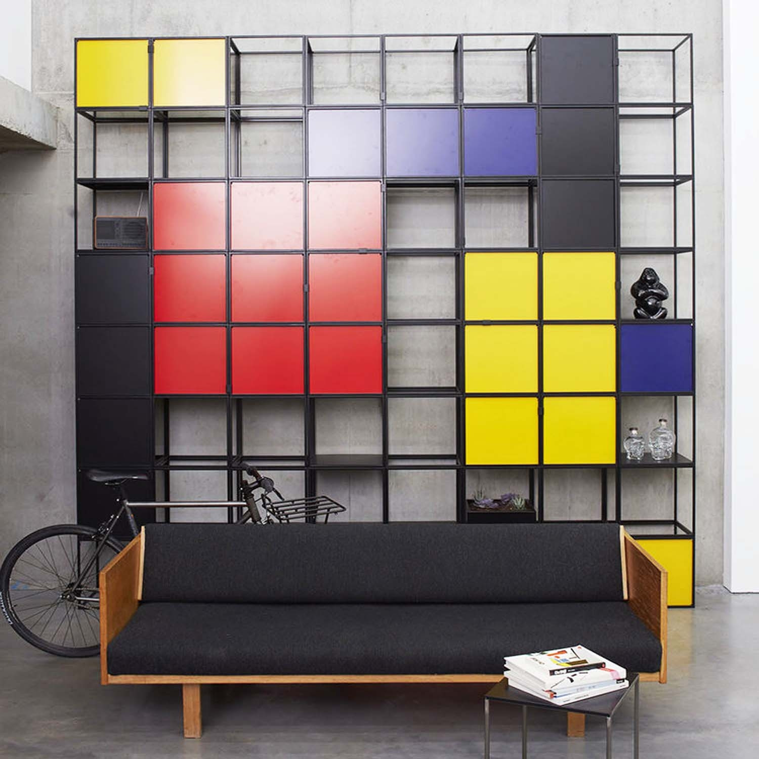 Cage Shelving Cubes in Various Colours