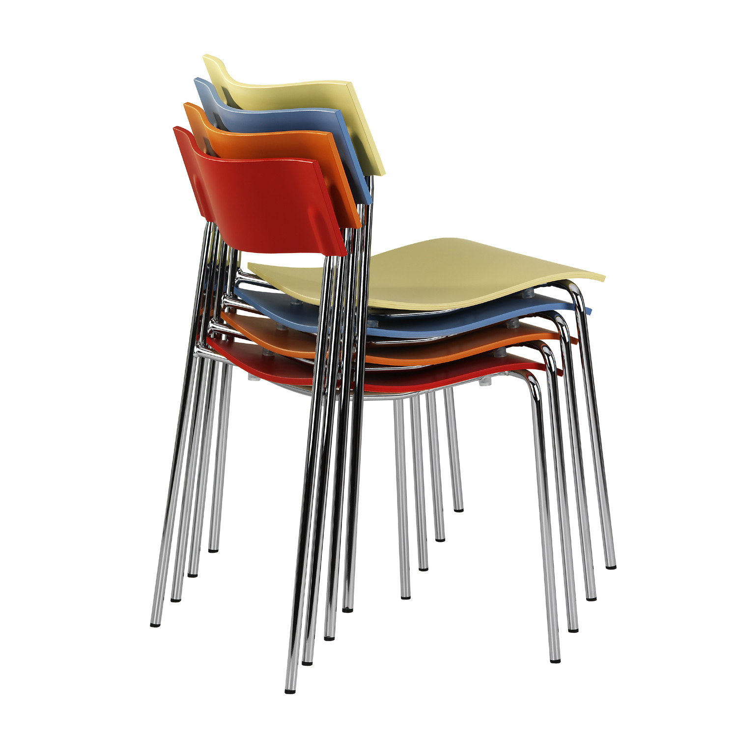 Lammhults Campus Chairs Stacked