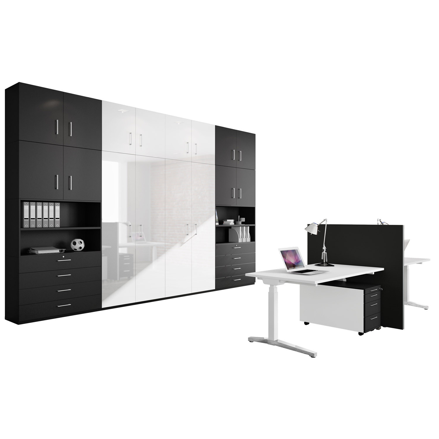 Canvaro Office Desk with Allvia Storage