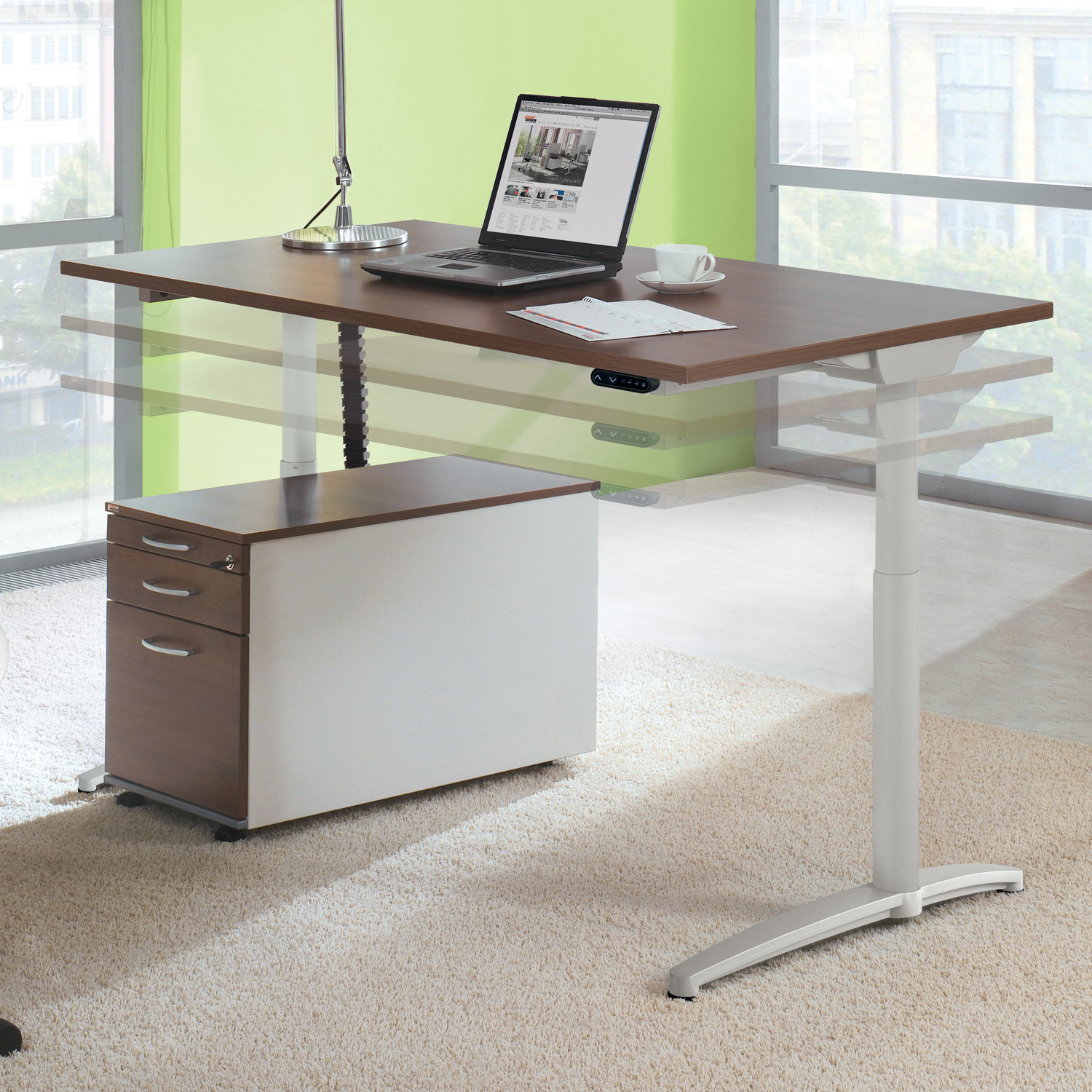 Canvaro Adjustable Height Desk by Assmann