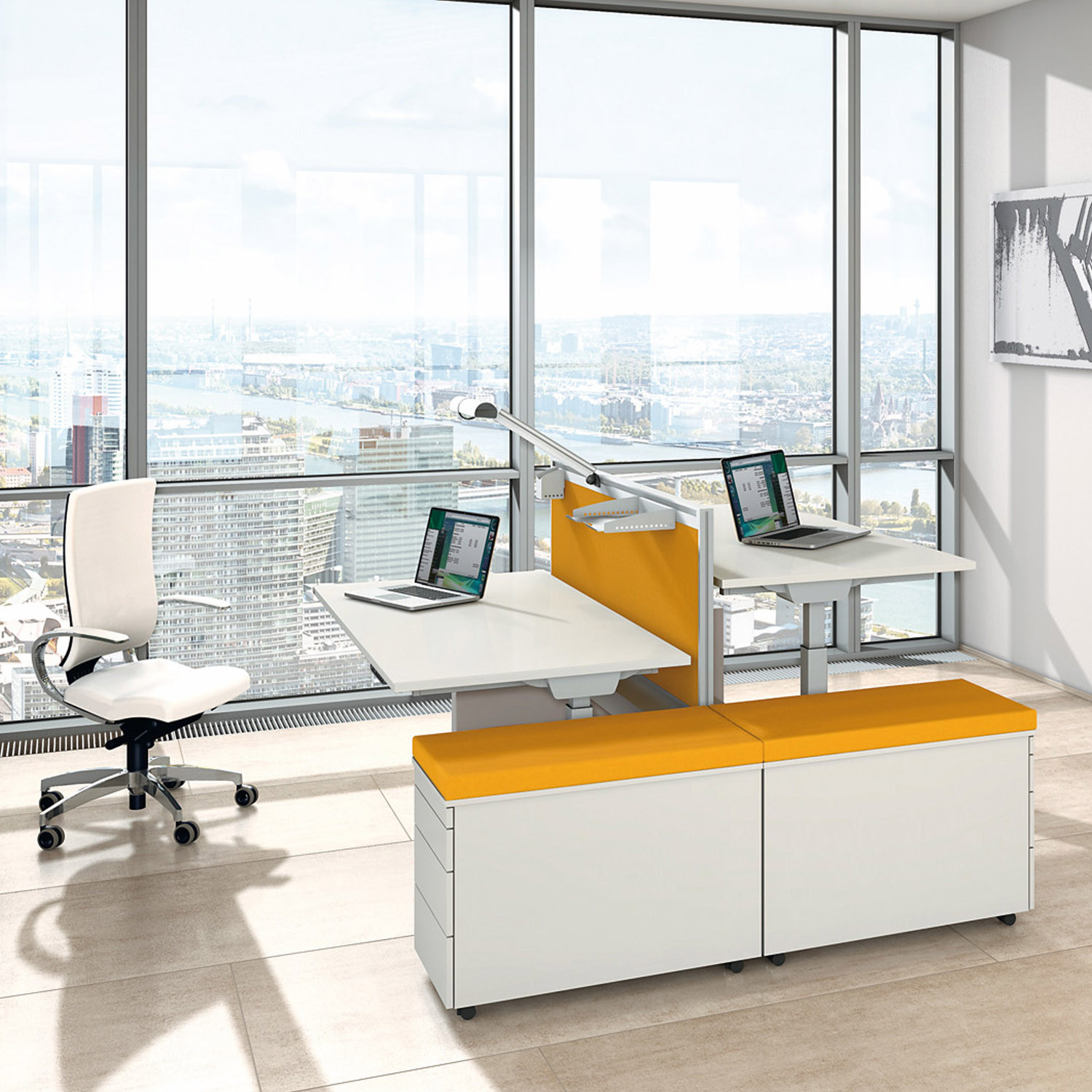 Canvaro Compact Bench Desking