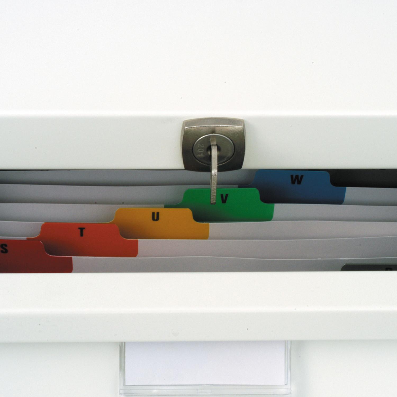 Card Filing Drawer Interior Detail