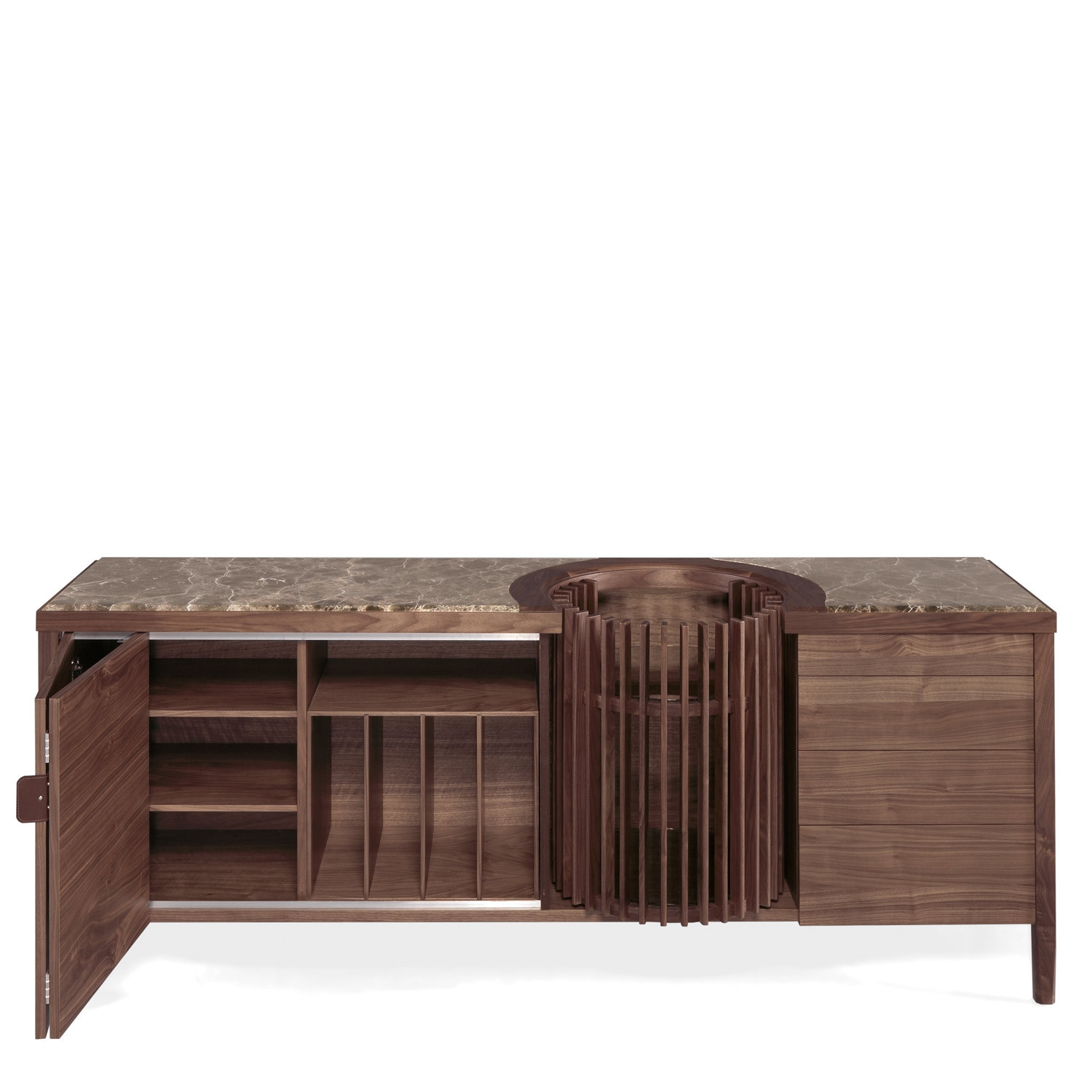 Carousel Sideboard With Sliding Doors