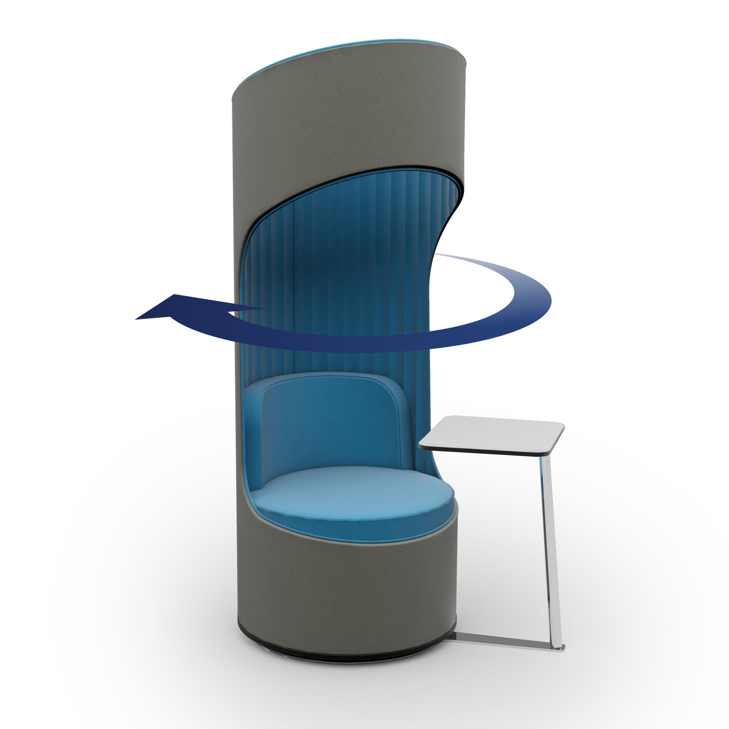 Cega Chair is available as a 360 degree swivel