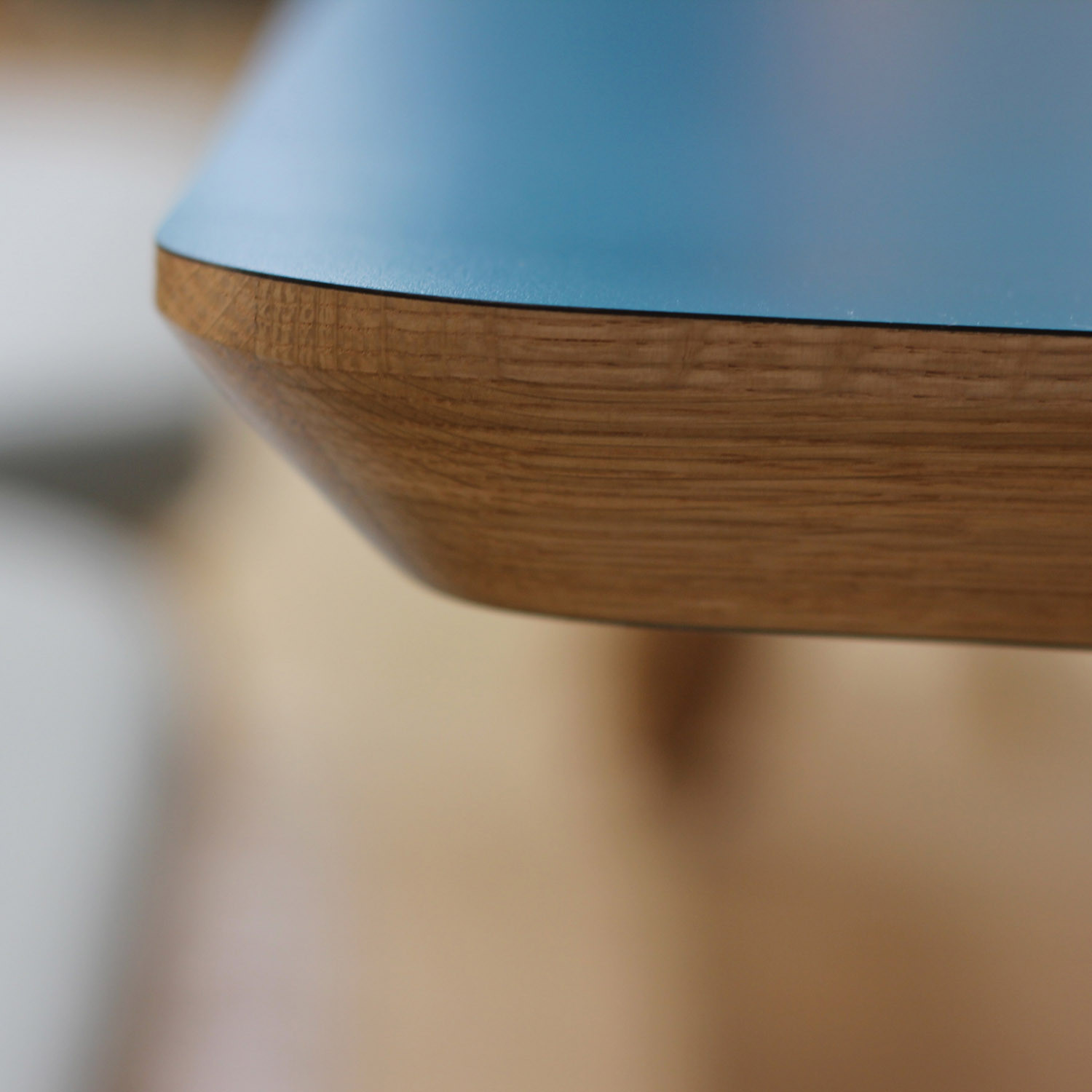 Centro Table with Chamfered Edge Detail