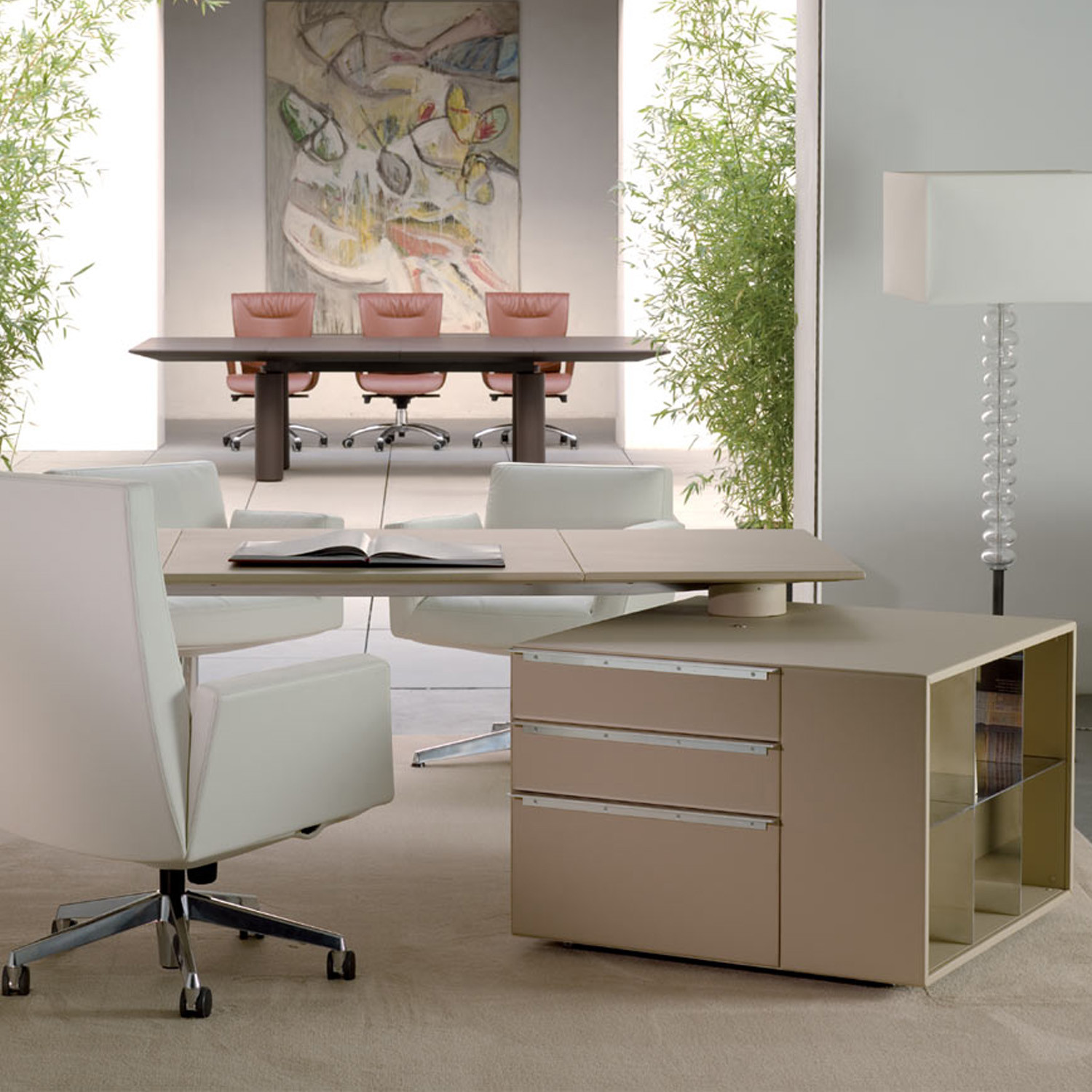 Poltrona Frau CEO Desk Rotated