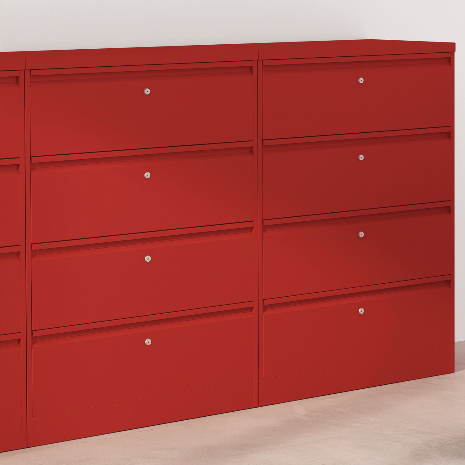 M:Line Filing Cabinet Red