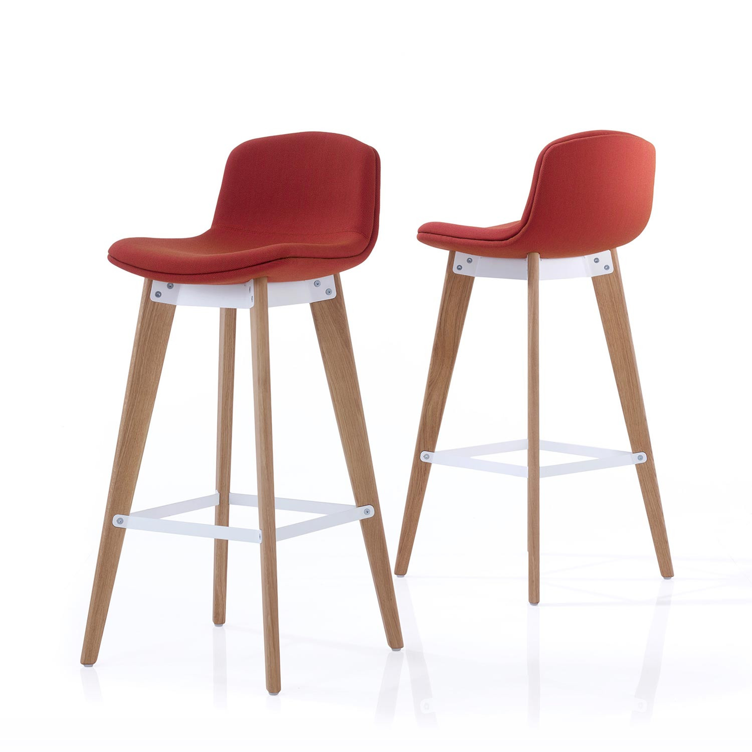 Coda Bar Stools With Wooden Legs