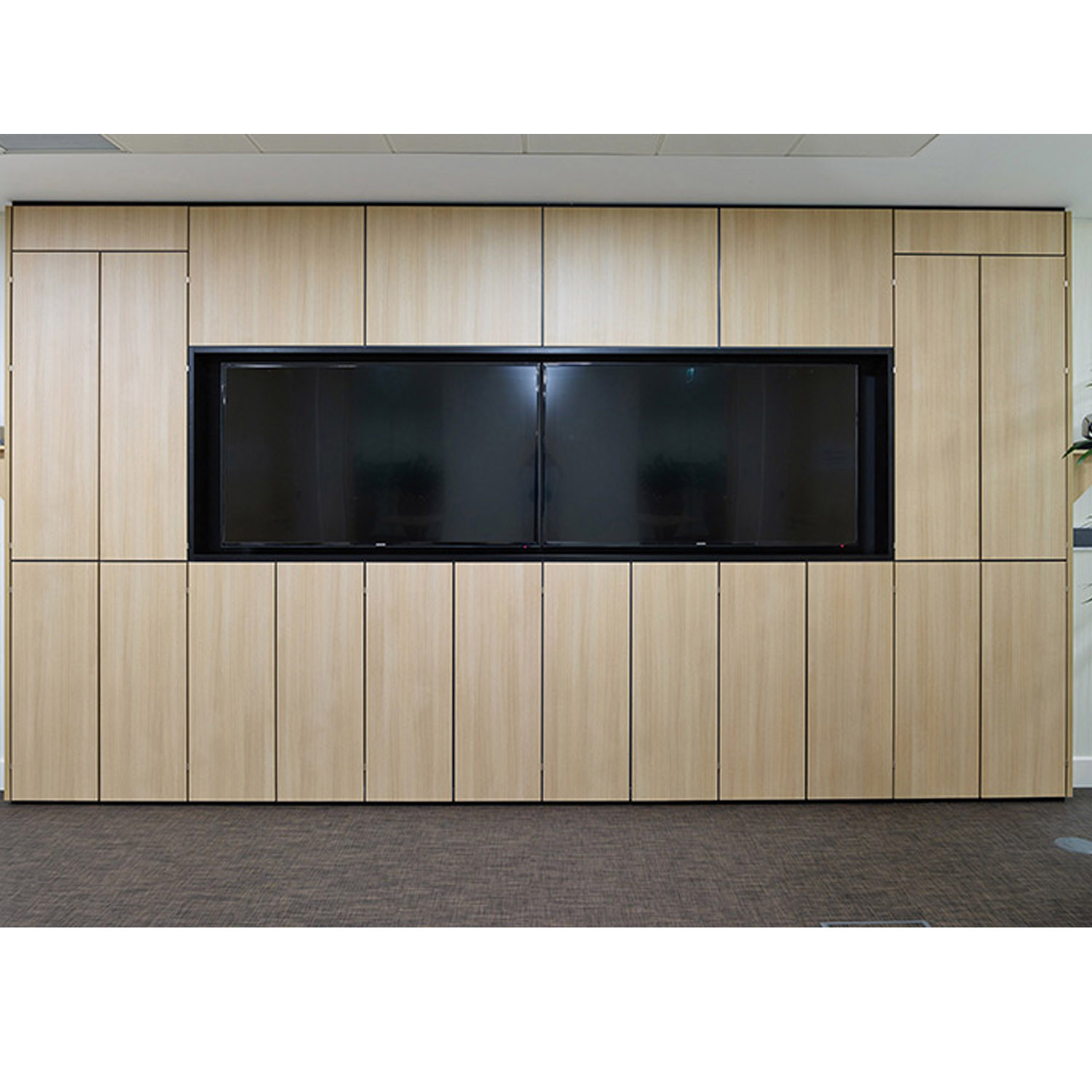 Combi Media Storage Wall Cupboards