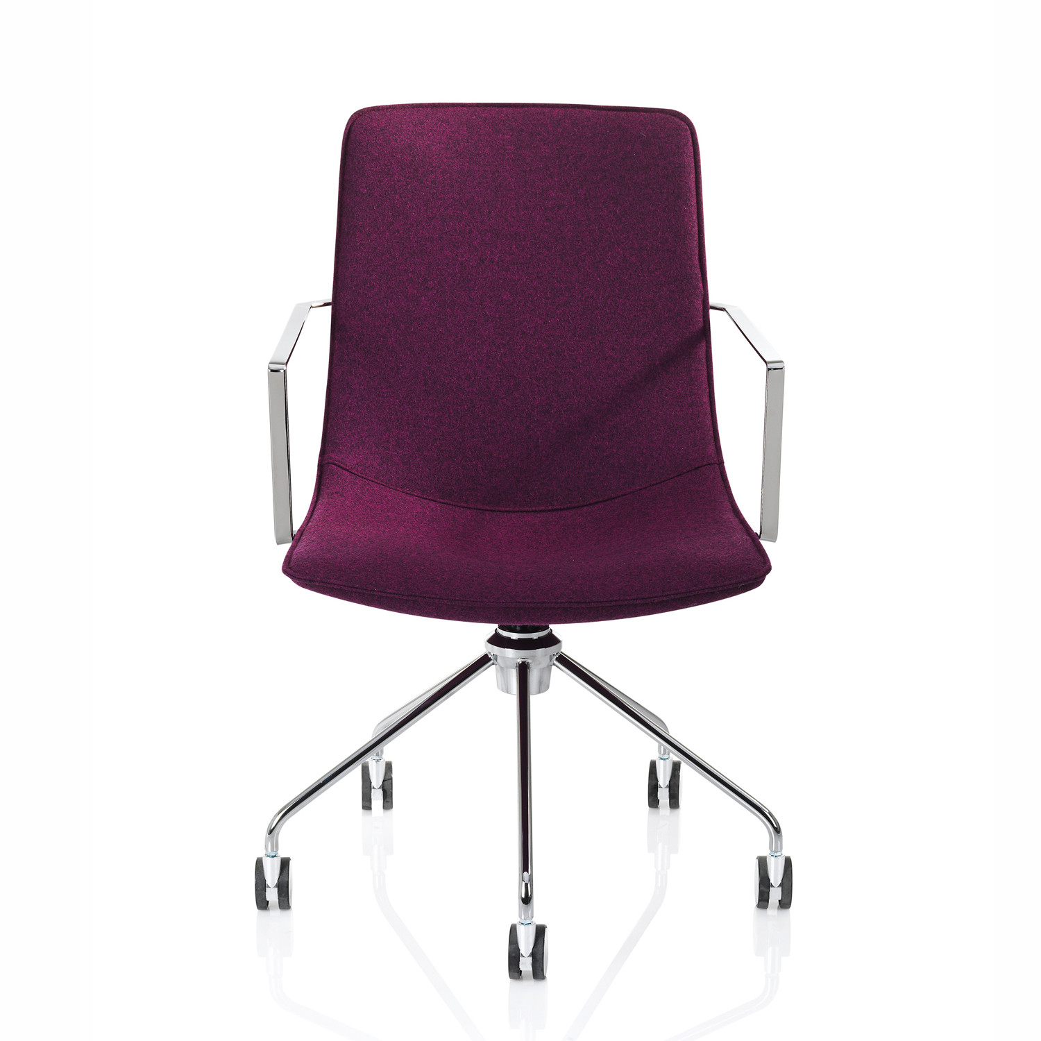 Comet Armchair on five-star base with castors