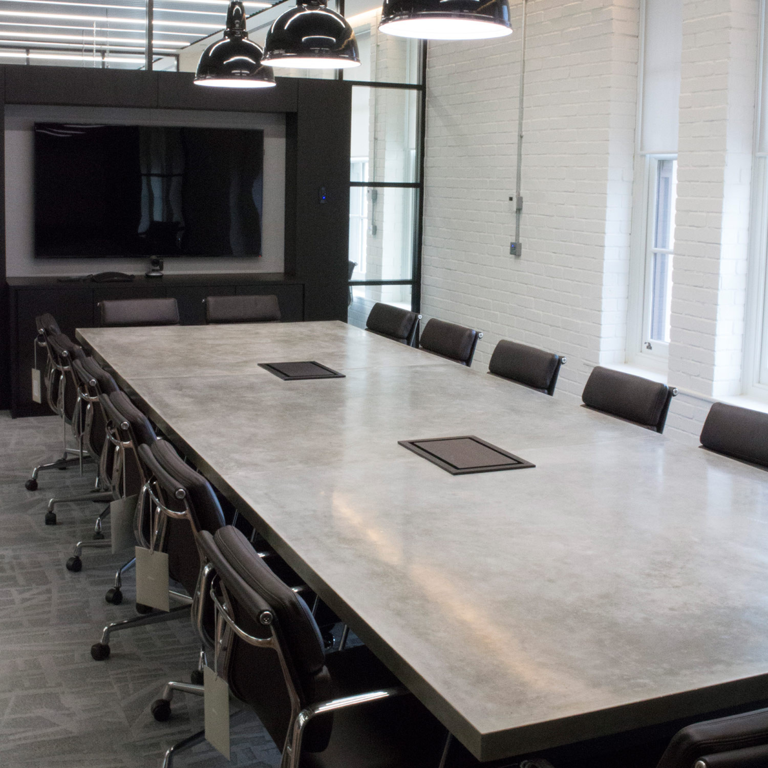 Custom Concrete Conference Table