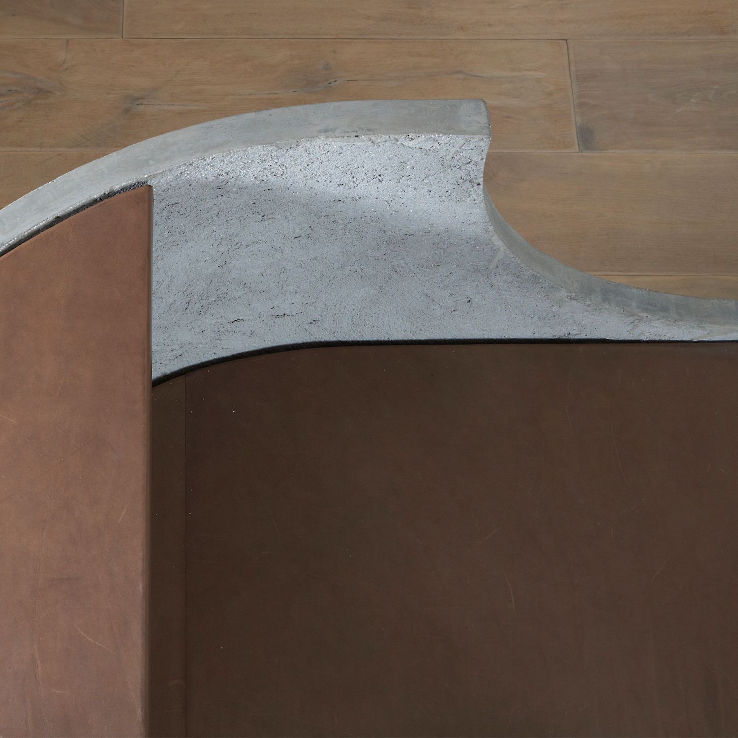 Concrete Reception Desk Detail