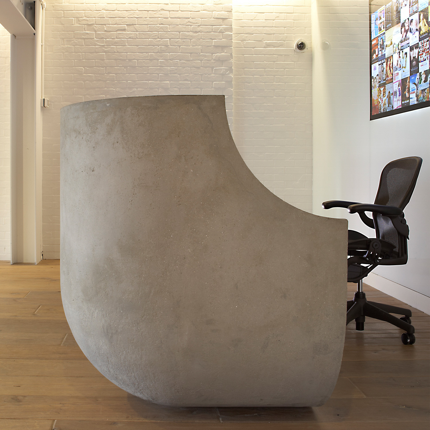 Concrete Reception Desk by Apres