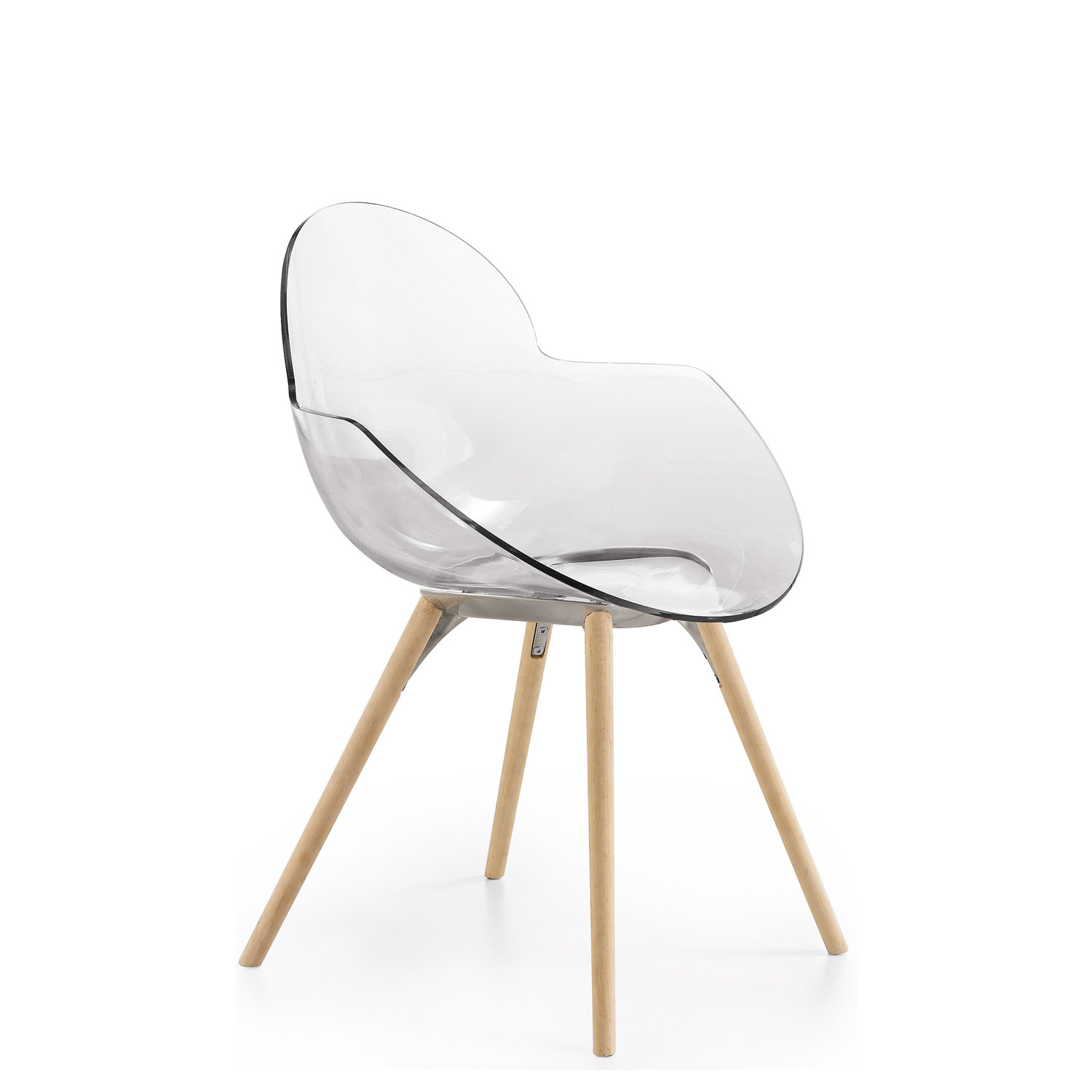 MCK4 Cookie Cafe Chair with wooden legs