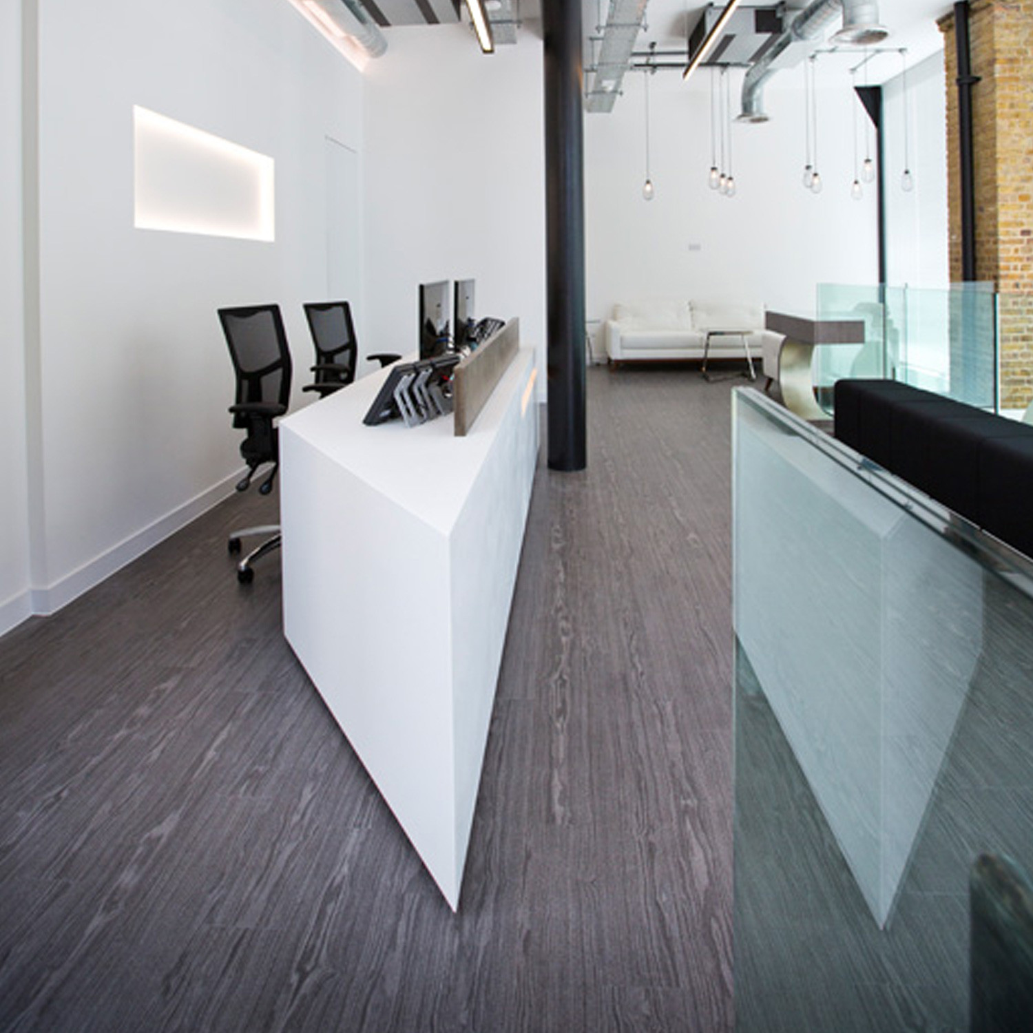 Thermoformed Corian Reception Desk