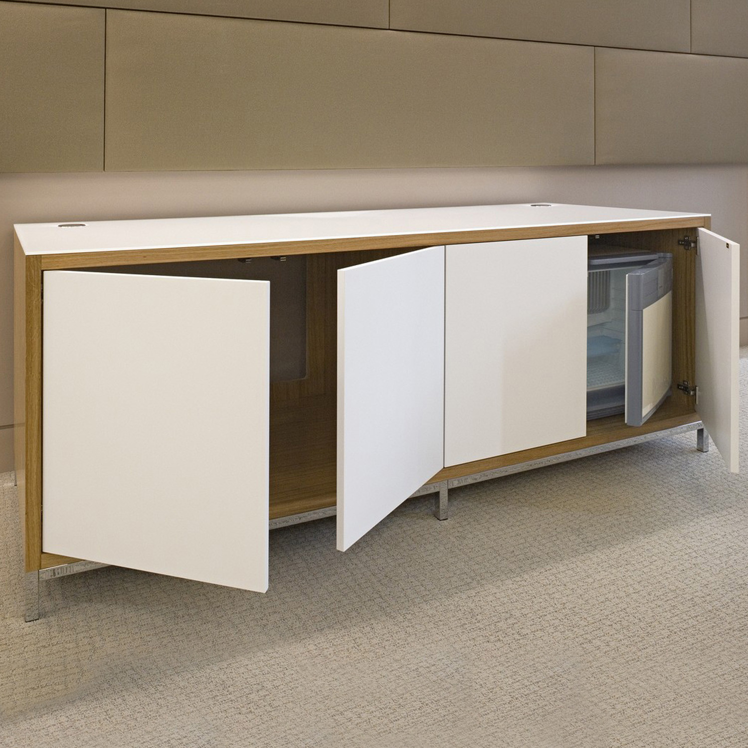 Custom Made Credenza with integrated fridge