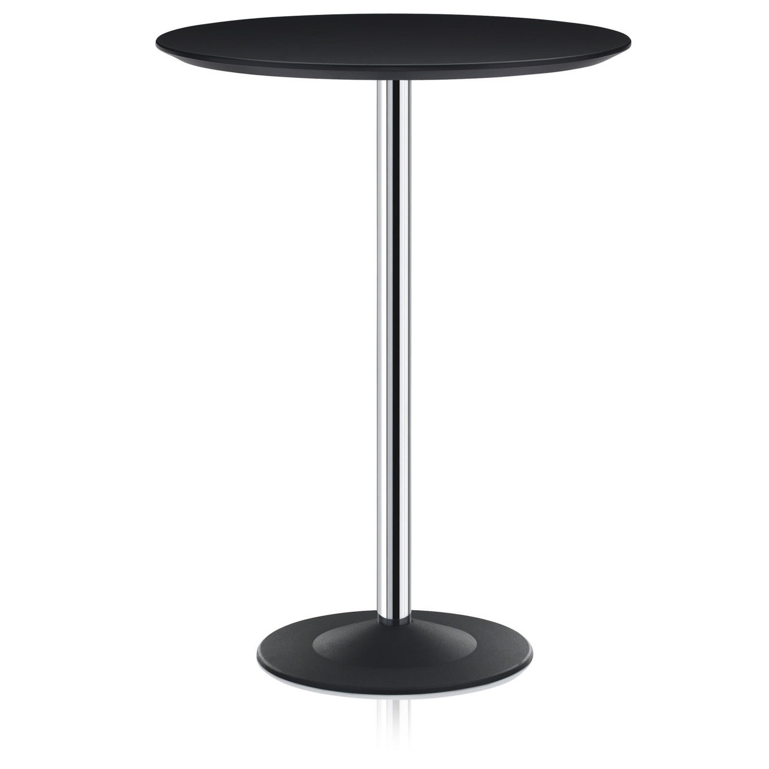 Cross Standing Table with Round Top and Plate Base