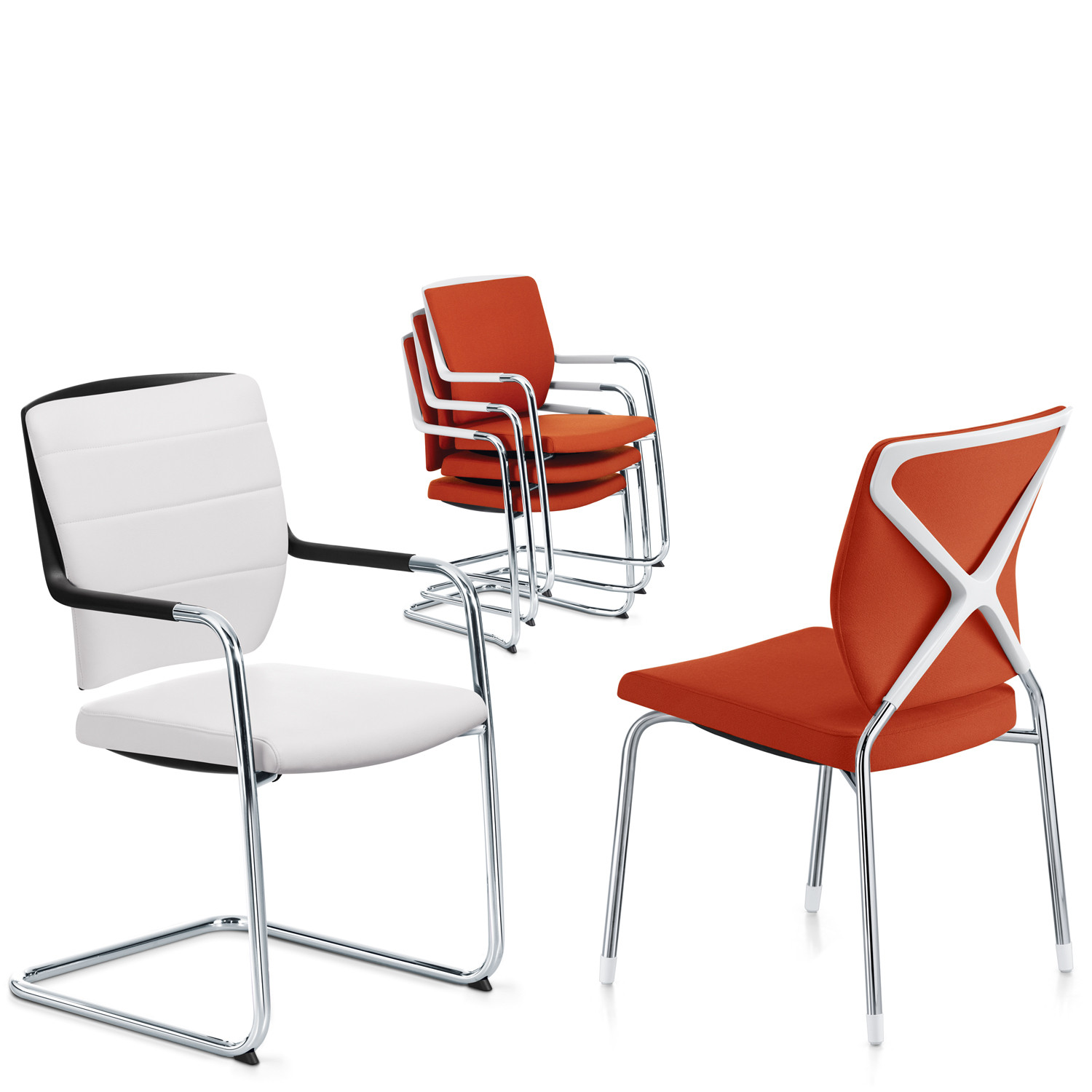 Crossline Visitors Chairs by Sedus