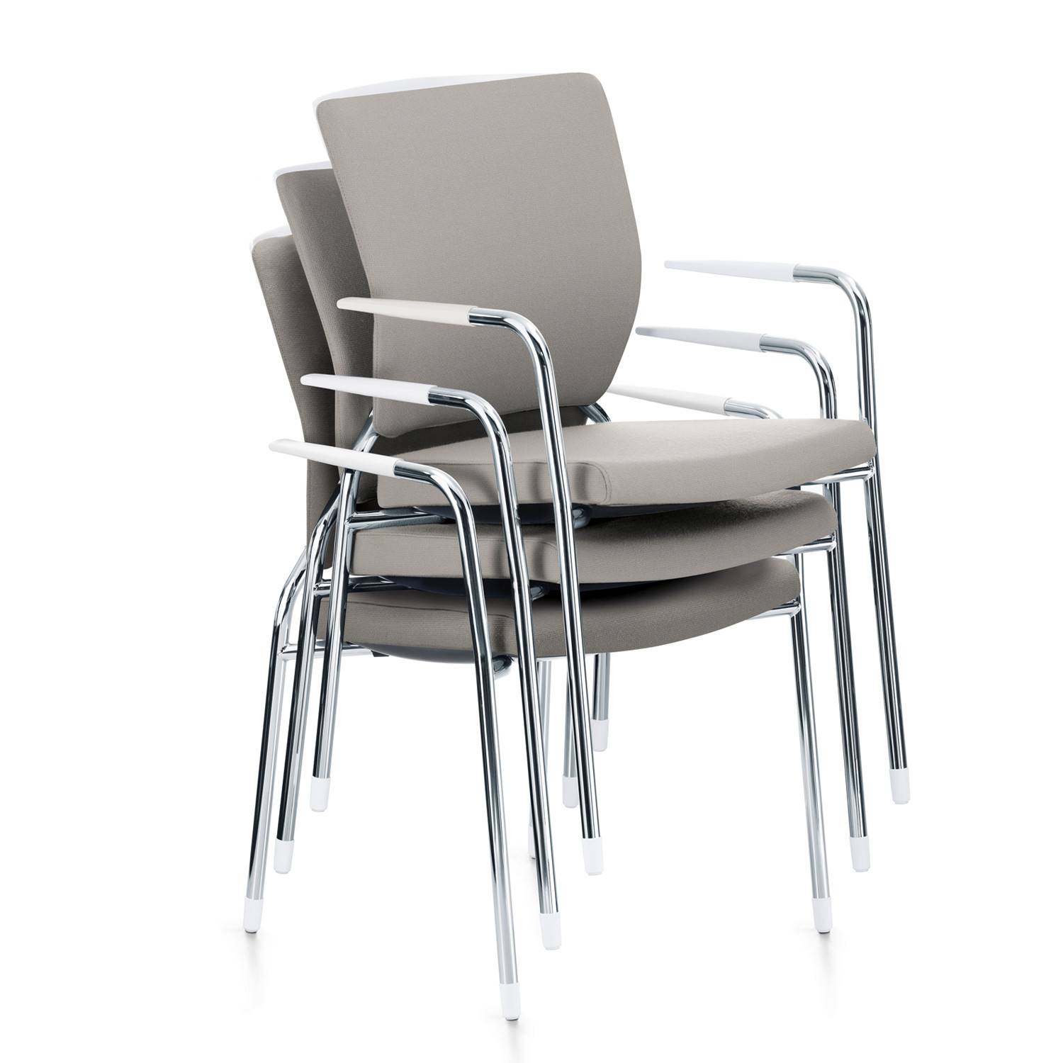 Crossline 4-Leg Armchairs Stacked