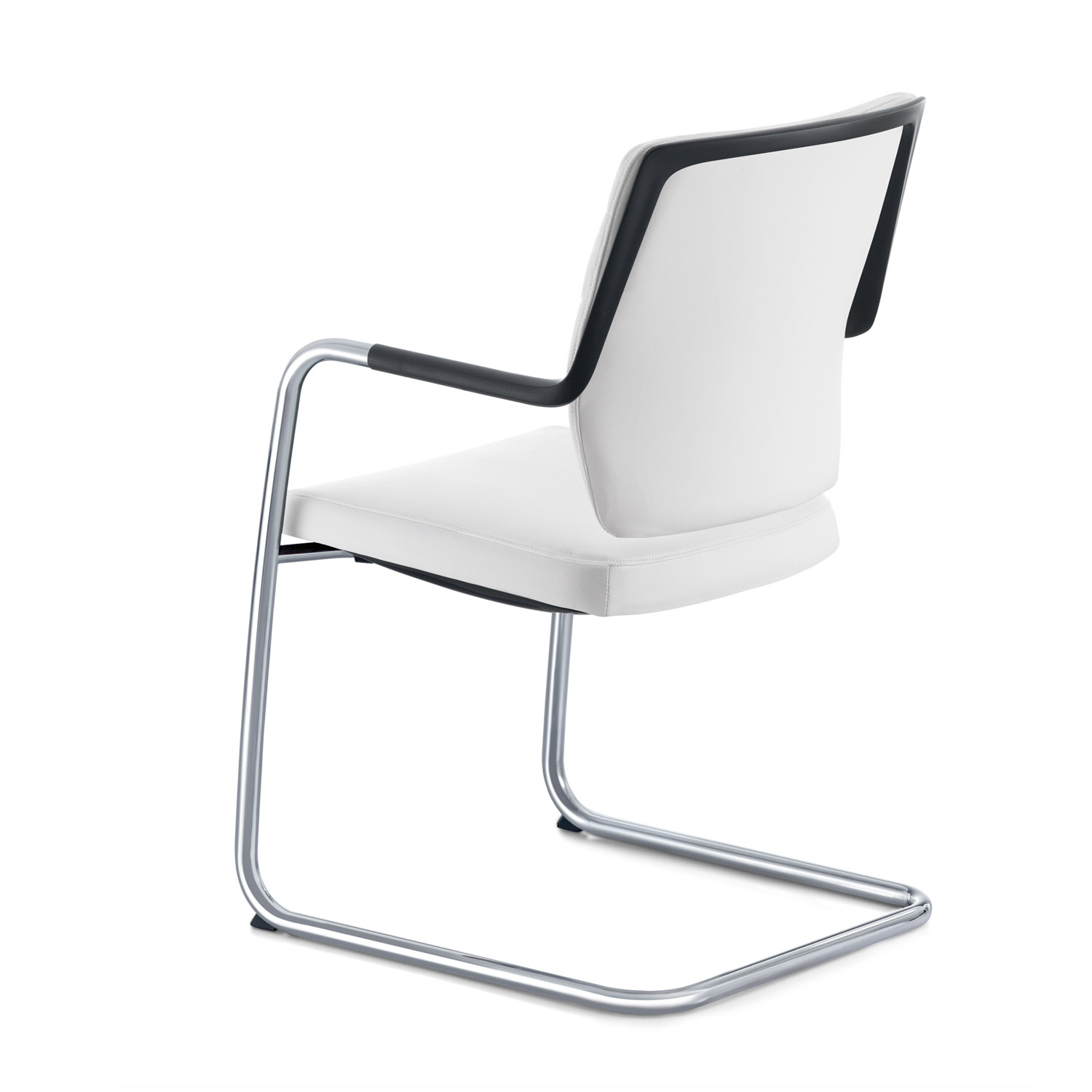 Crossline Cantilever Armchair back detail