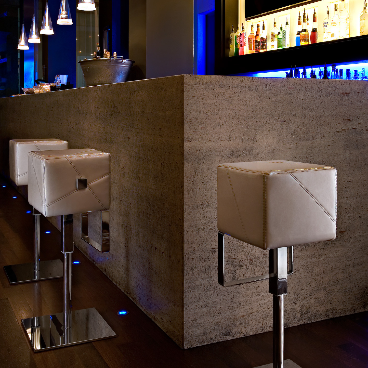 Cube Bar Stools from Apres Furniture