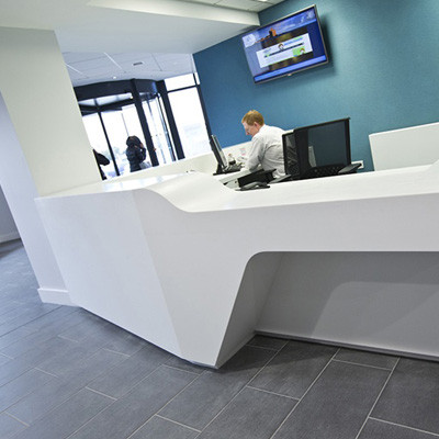 Custom Corian Reception Desk