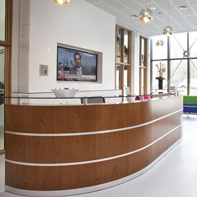 Custom Wooden Reception Desk
