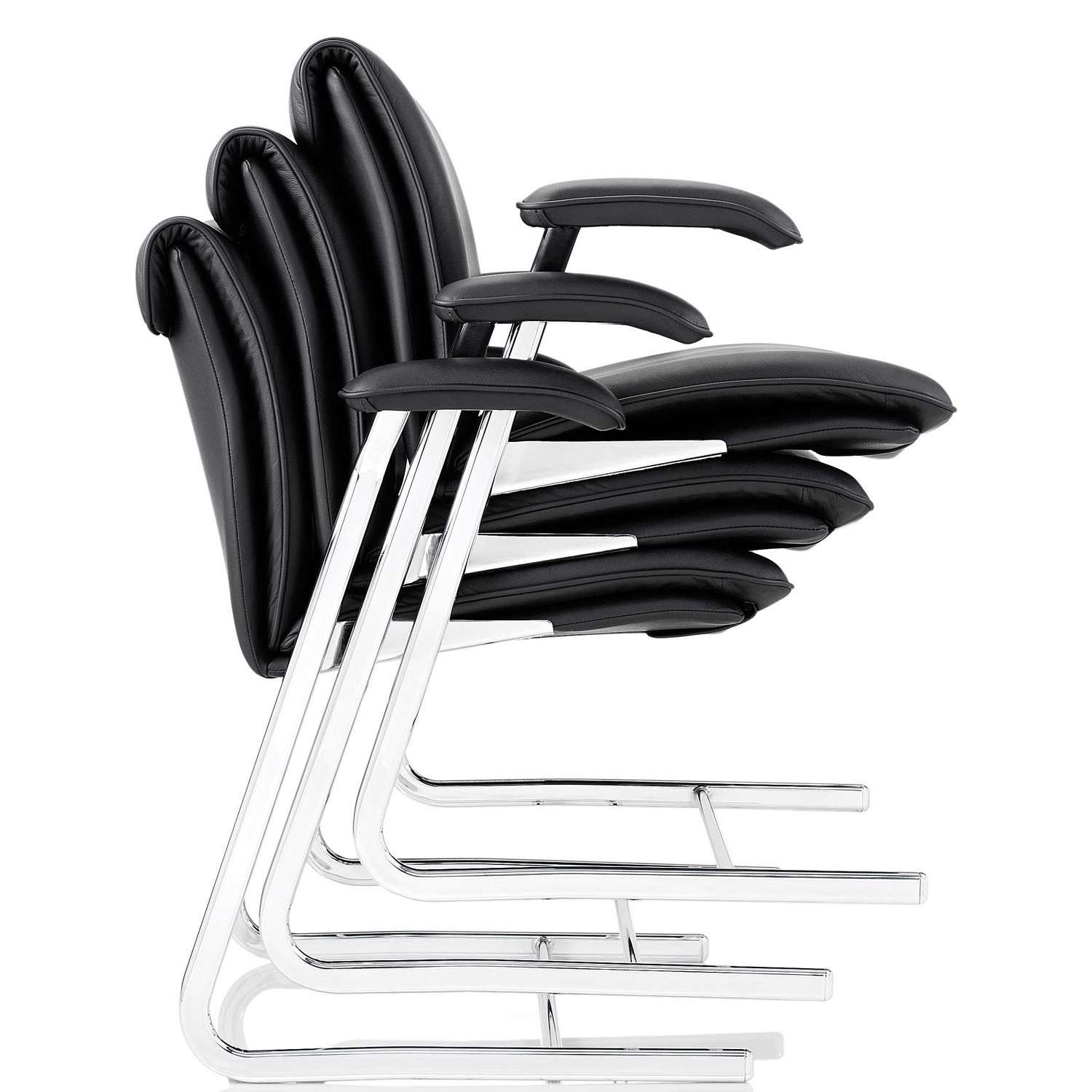 Delphi Low Back Stackable Cantilever Chairs