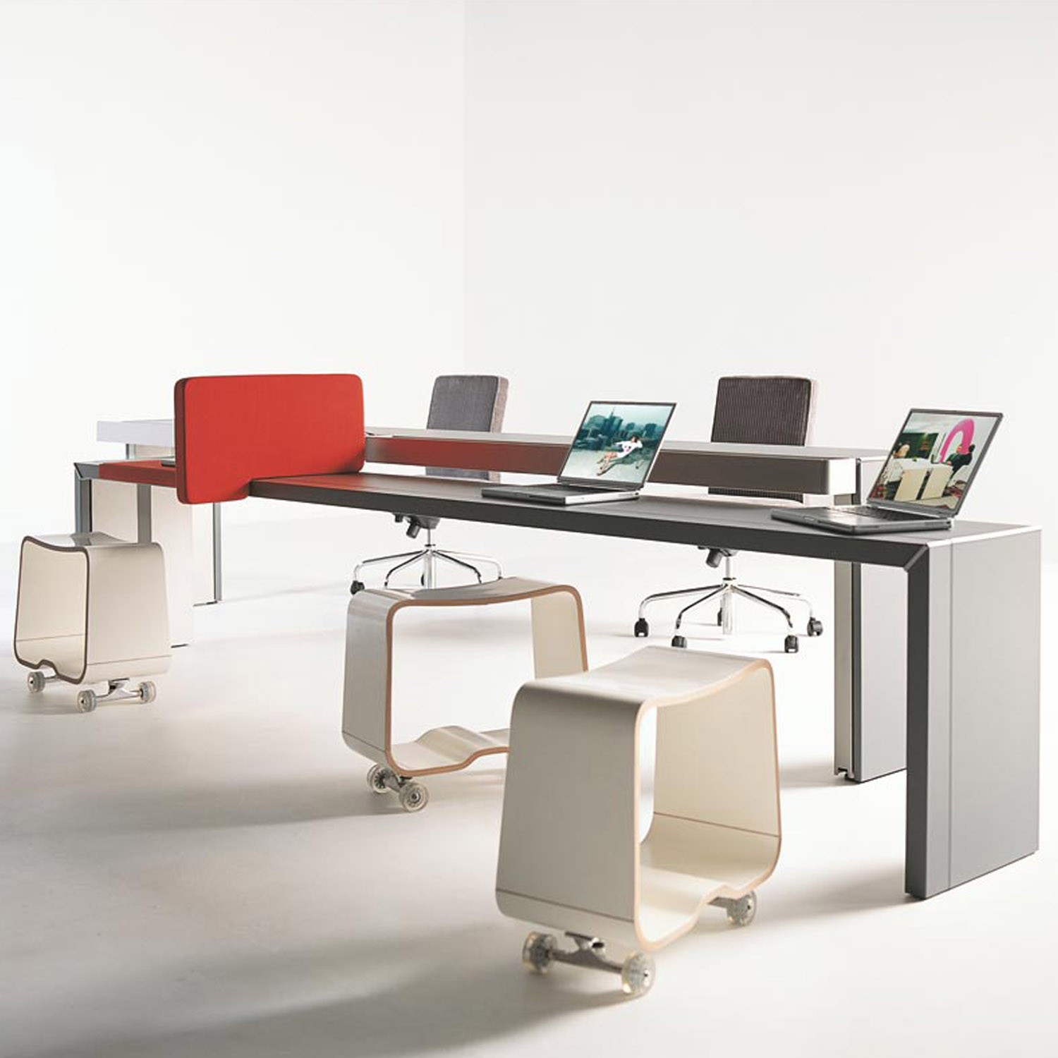 Double You Bench Desk
