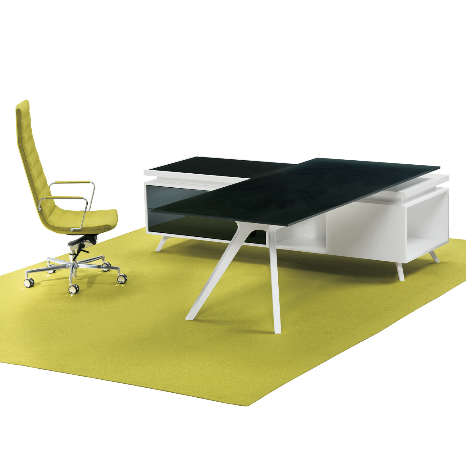 DR Executive Desk can be complemented with supporting service storage
